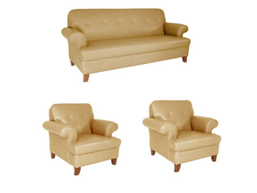 DR 2539 Sand Sofa and Two Chairs